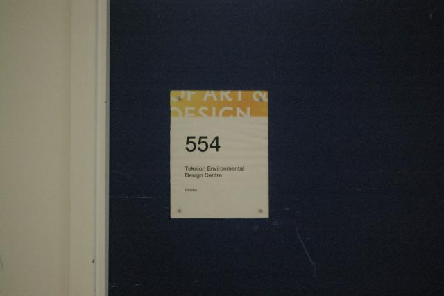 Room 554 (sign)
